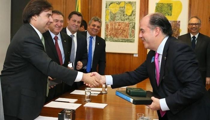 Julio Borges y Rodrigo Maia