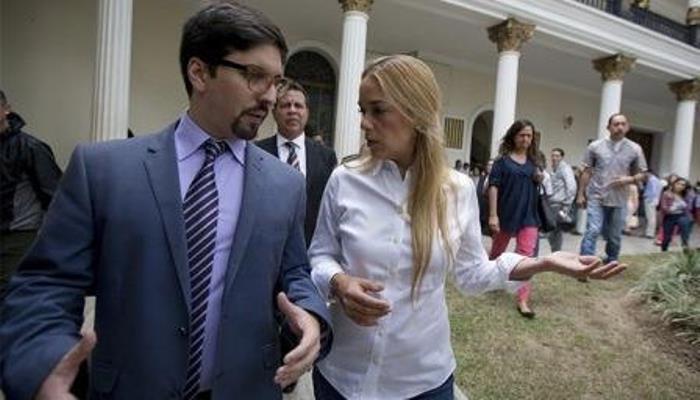 Freddy Guevara y Lilian Tintori