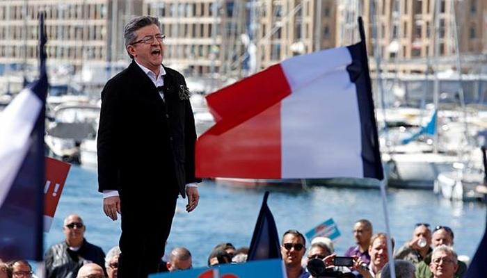 Mélechon vs derecha francesa