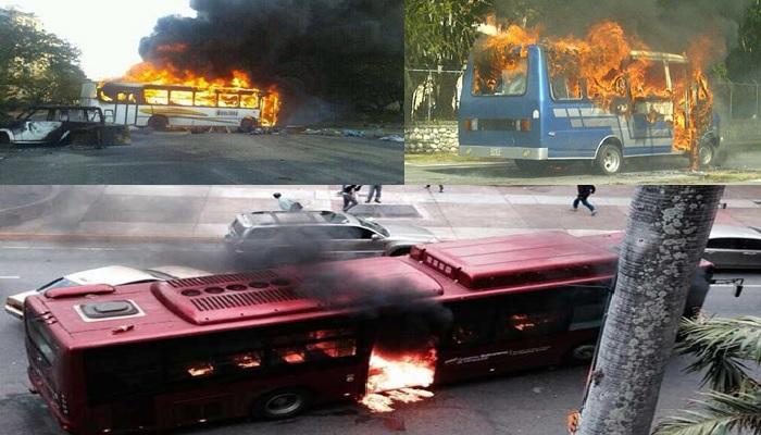 Transporte protestas violentas