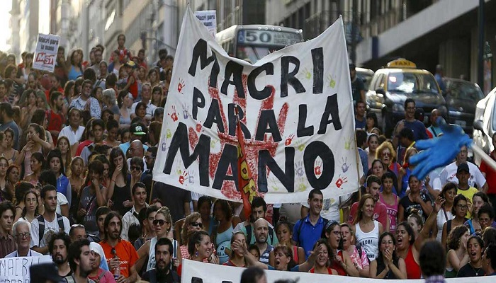 Argentina - Protestas en contra de Macri