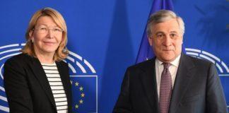 Díaz-Anotnio-Tajani-UE-Sanciones-Venezuela