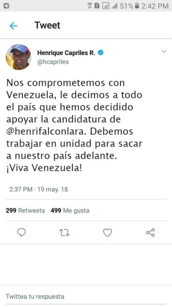 Candidato-Capriles-Tuit Falso