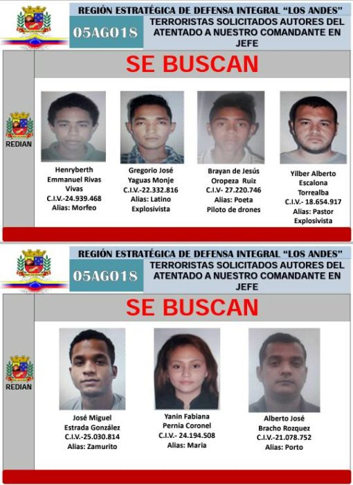 Terroristas-Maduro-Atentado