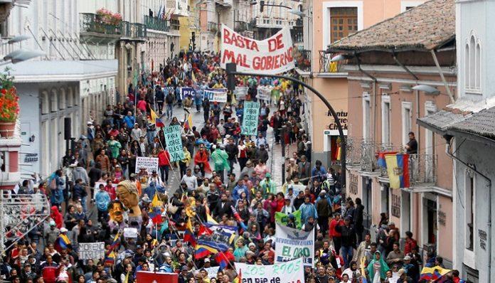 ecuador protesta lenin moreno