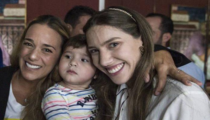 Guaidó - Fabiana Rosales y Lilian Tintori