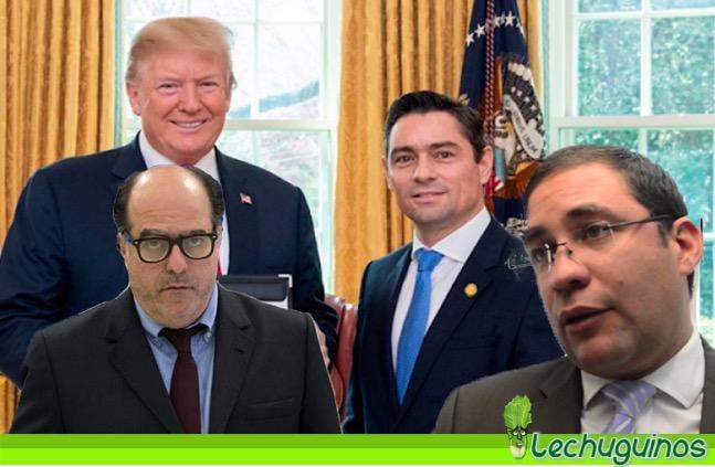 donald trump, carlos vecchio y García Banchs