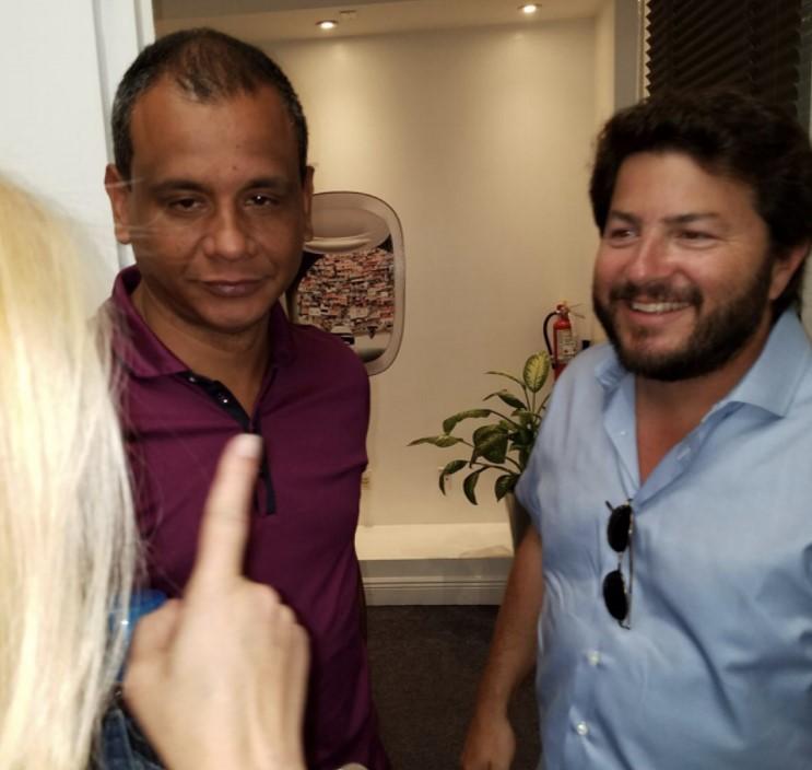 Juan Bracamonte, Presidente de Avior y Carlos Kauffman