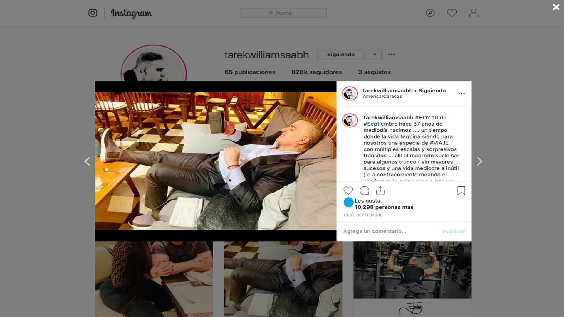 Tarek William Saab instagram