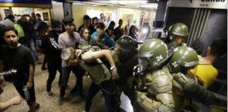 policia represion chile