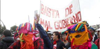 protesta ecuador lenin moreno