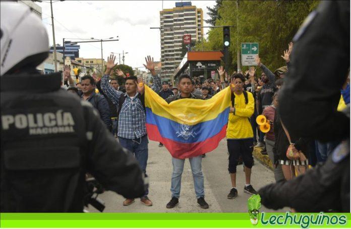 protesta ecuador quito