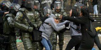 manifestantes muertos colombia
