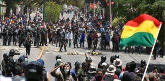 comandante policia protestas bolivia barricadas