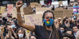 protesta contra violencia racista