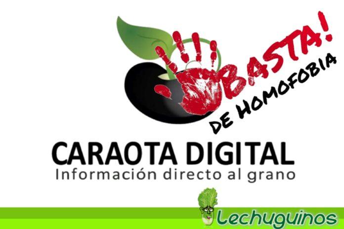Caraota digital publicó homofobia