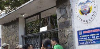 consulado vandalizado