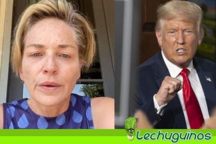 Actriz Sharon Stone llamó asesino a Donald Trump