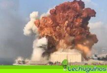 Explosión Beirut, líbano infrarrojo misiles