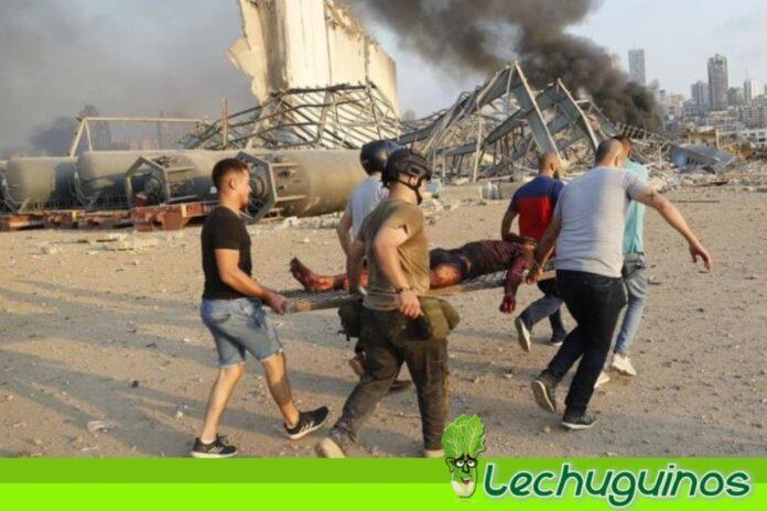 Potentes explosiones Beirut, líbano
