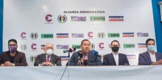 """La """"Alianza Democrática"""" de la oposición reconoce avance en cronograma electoral"""