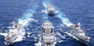 Naves iraníes y rusas destruyeron objetivos en ejercicios conjuntos