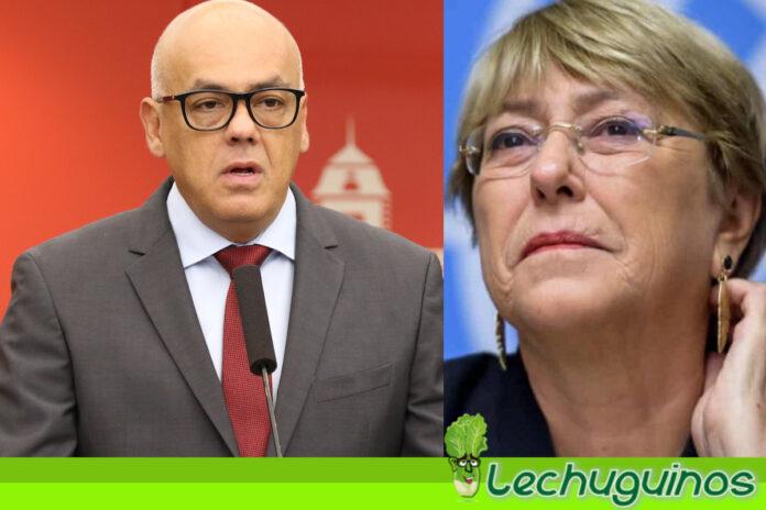 Vea la pela que le dio Jorge Rodríguez a Michelle Bachelet