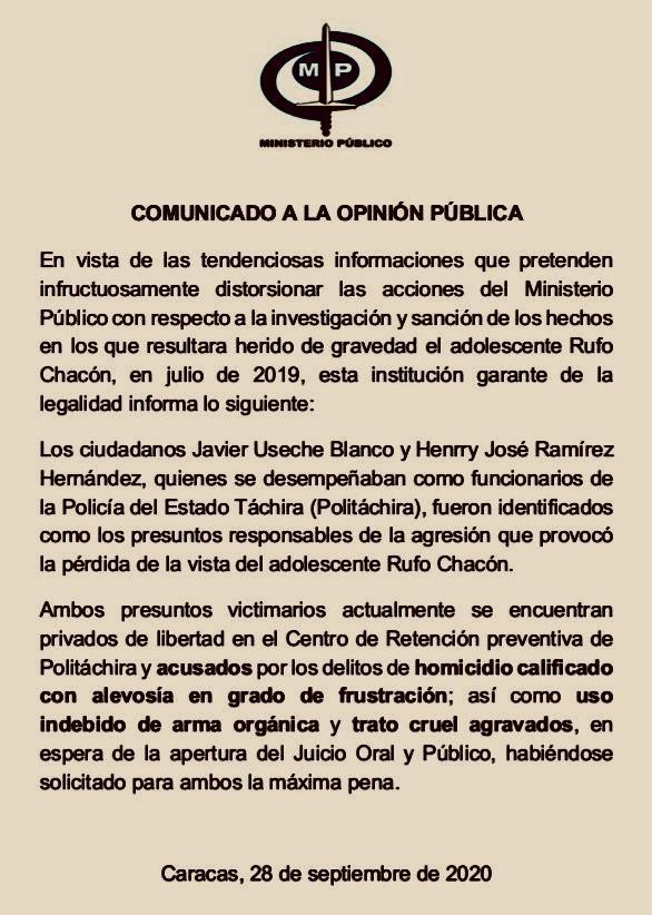 Caso Rufo Chacón