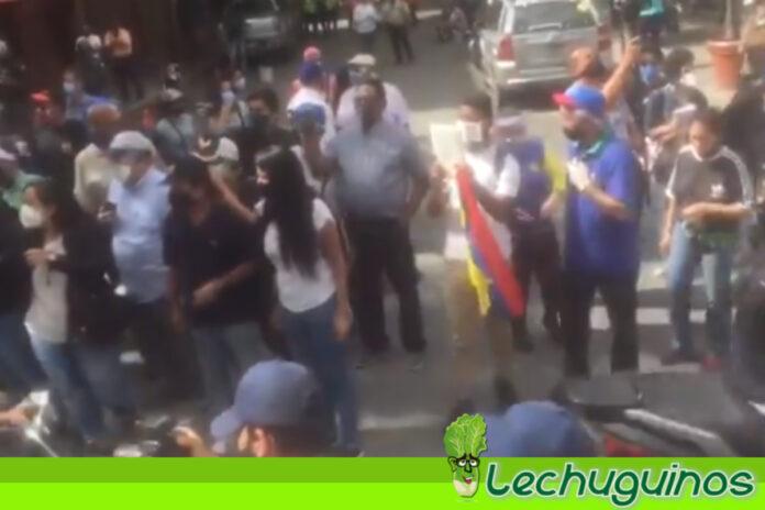 Así estuvo la concentración convocada por Guaidó a la Plaza Morelos