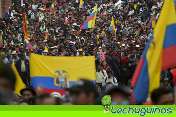 Ecuatorianos se moviliza en contra del gobierno de Lenin Moreno