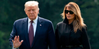 Melania vuelve a desairar en público a Donald Trump