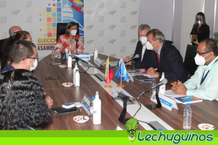 CNE sostuvo reunión con representantes de la ONU, OPS y OMS