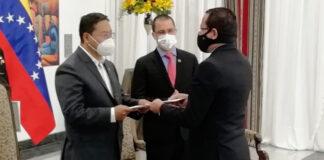 Presidente de Bolivia recibe cartas credenciales del nuevo embajador de Venezuela