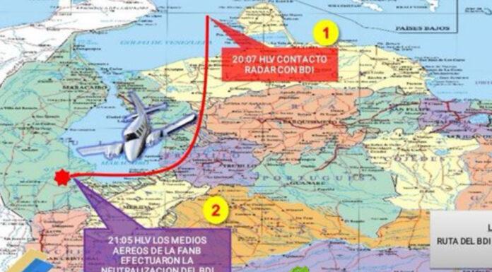 Neutralizan aeronave de narcotráfico colombiano en espacio aéreo venezolano