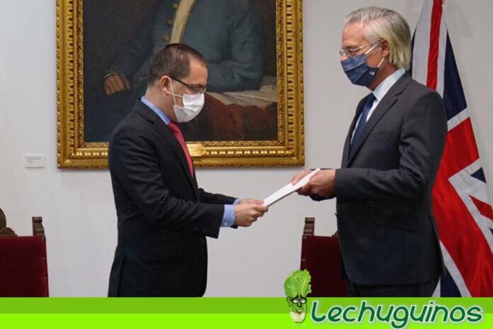 Venezuela entrega Nota de Protesta a Reino Unido en repudio a injerencia en asuntos internos