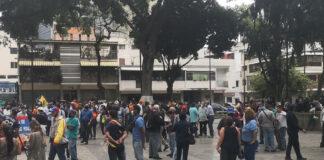 Así estuvo la Plaza Bolívar de Chacao tras convocatoria de Guaidó