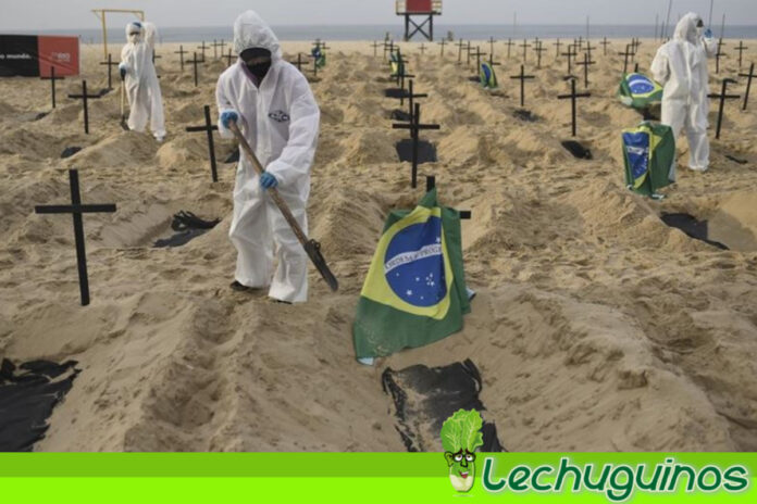 Brasil superó los 450 mil muertos por Covid-19
