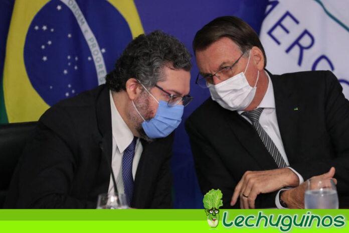 Canciller de Brasil le renuncia a Bolsonaro por no soportar sus locuras