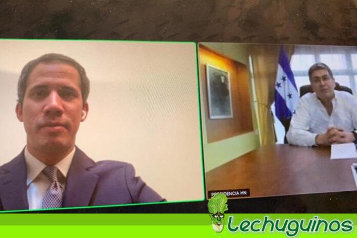 Guaidó aplaudió labor del Presidente de Honduras con relación al tráfico de drogas