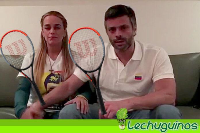 """Vea a Lilian Tintori y a Leopoldo López jugando tenis con los 100 dólares que le """"donaron"""""""