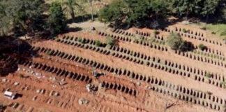 Cavan cientos de tumbas en Brasil ante el aumento de muertes por Covid-19