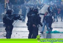 Policía de Duque continúa brutal represión en contra de manifestantes en Bogotá