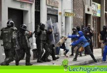 Policía de Duque lanza ácido a manifestantes en Colombia (+VIDEO)