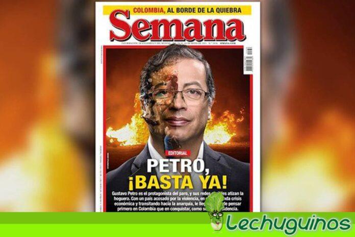 Revista Semana Gustavo Petro ensangrentado