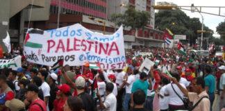 Venezuela se moviliza en solidaridad con el pueblo de Palestina