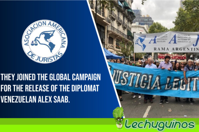 Asociación Americana de Juristas firma a favor del Enviado Especial Alex Saab