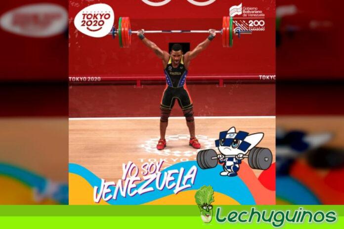 Pesista Julio Mayora se alzó con la medalla de plata en Juego Olímpicos de Tokio