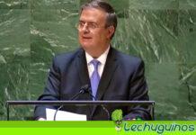 México pide ante la ONU el fin del embargo a Cuba y defiende diálogo en Venezuela