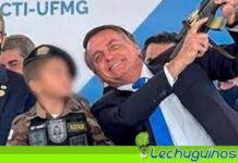 Bolsonaro presentó a un niño con un fusil de juguete y asegura que es muestra de civilidad