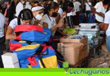 Distribuyen uniformes y útiles escolares para período académico 2021–2022